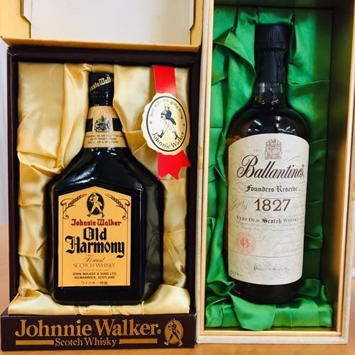 ジョニーウォーカーとバランタインのウイスキーを買取りました【モノマニア朝日店】