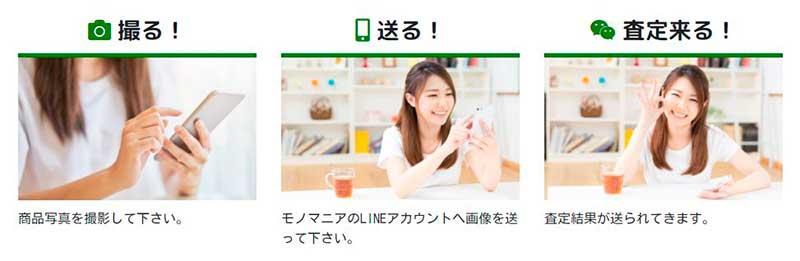 LINE査定の流れ【モノマニア朝日店】