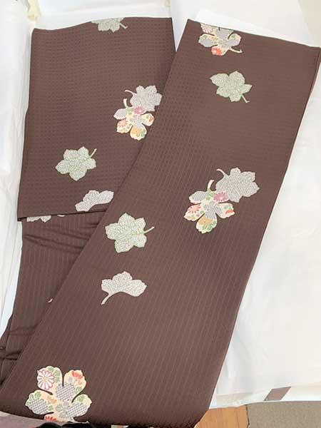 楓柄 小紋の着物 買取りました【モノマニア朝日店】